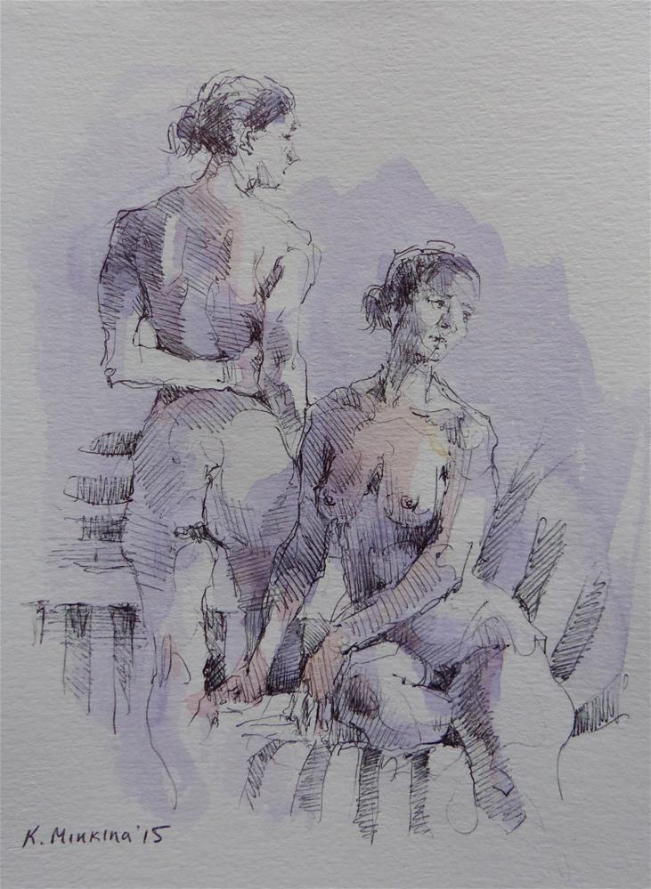 """sketchbook#3"" original fine art by Katya Minkina"