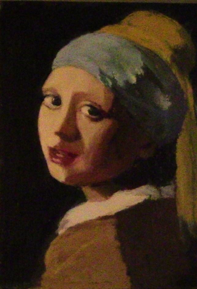 """Girl w/o a pearl earring"" original fine art by Fred Medley"