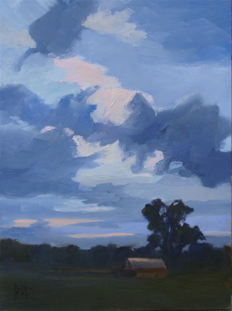 """Pink Sky at Morning"" original fine art by Rebecca Helton"