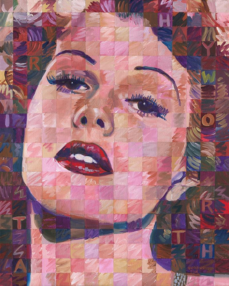 """Rita Hayworth #2"" original fine art by Randal Huiskens"