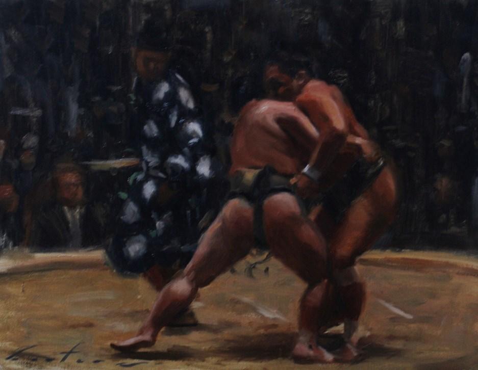 """Honbasho"" original fine art by Phil Couture"