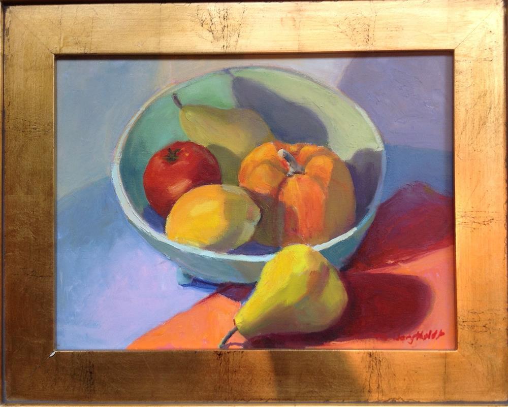 """""""Garden Bounty in Blue Bowl"""" original fine art by Marcia Bergtholdt"""