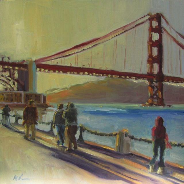 """""""SUNSET"""" original fine art by Mb Warner"""