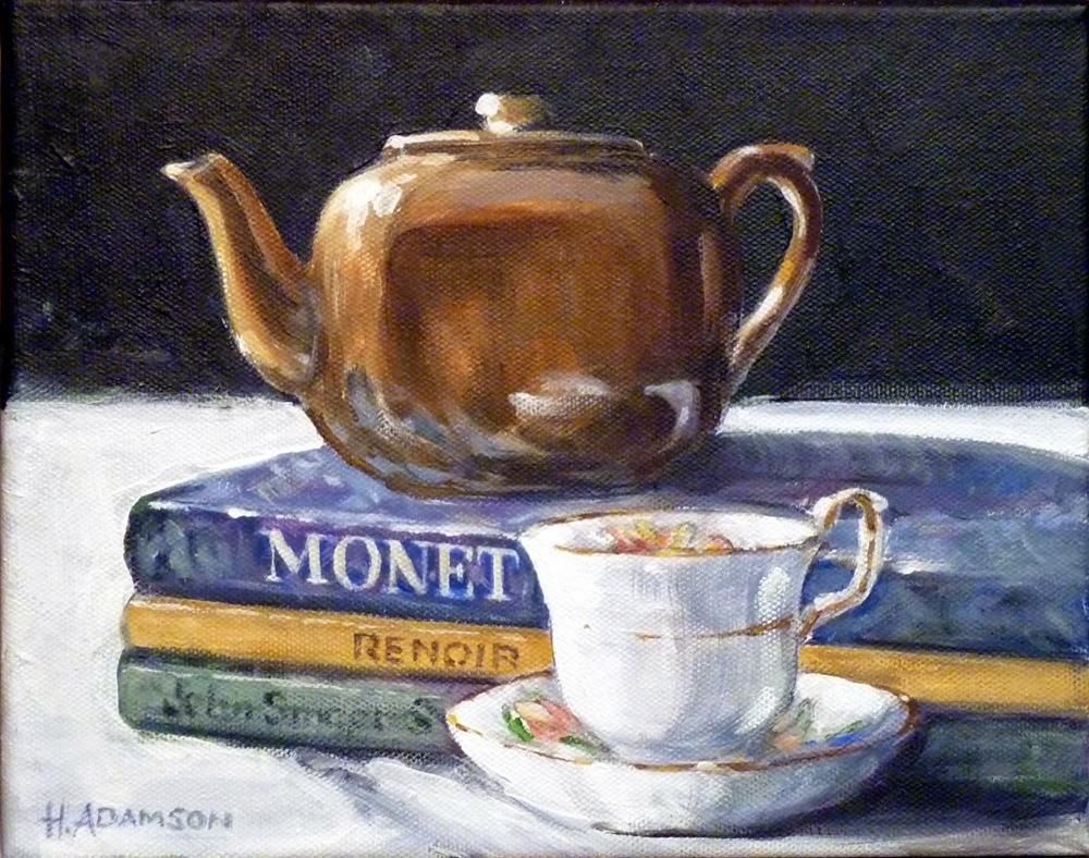 """Tea With Monet"" original fine art by Helene Adamson"