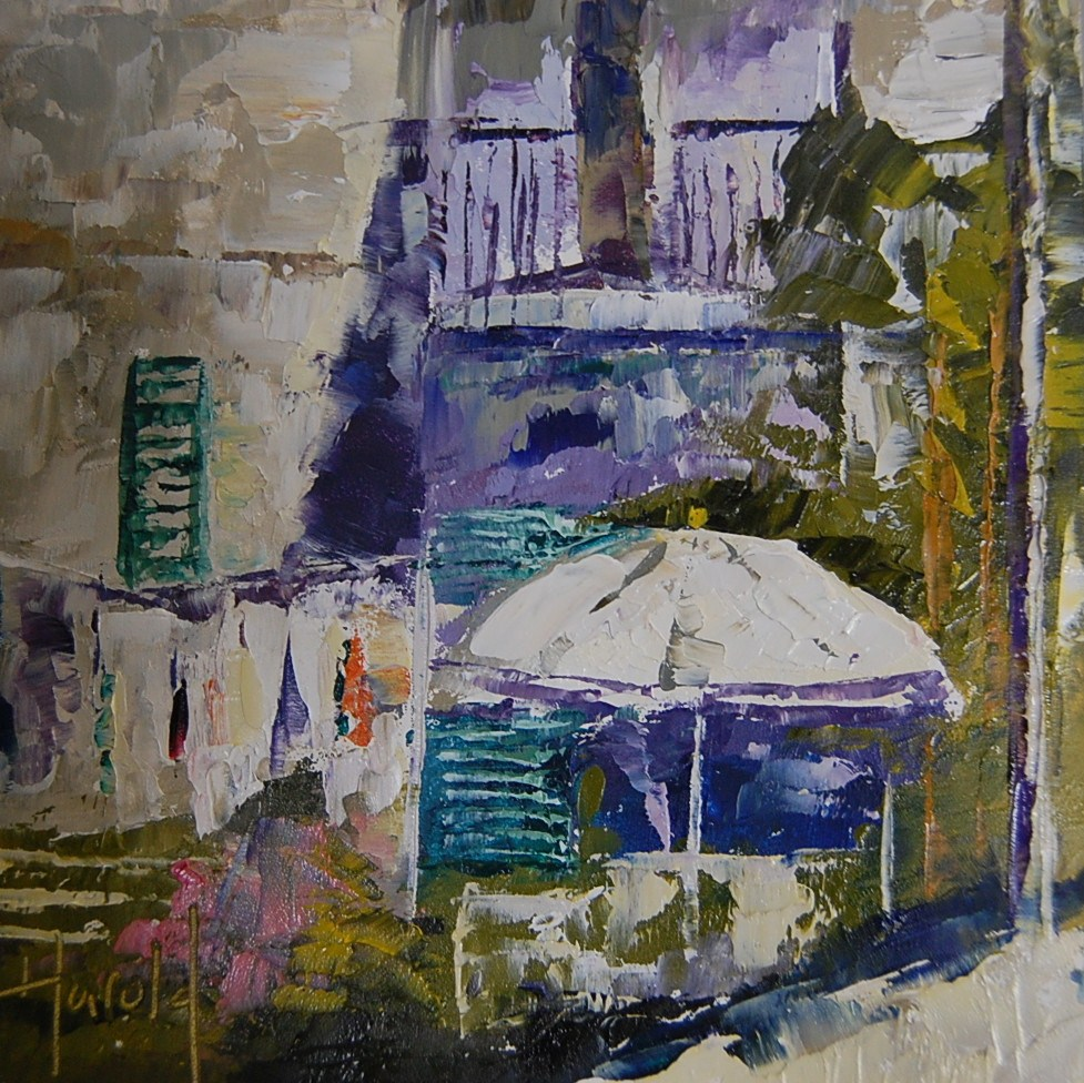 """laundry in Paris"" original fine art by Deborah Harold"