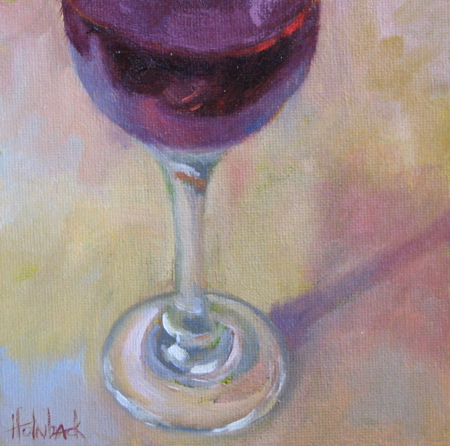 """Wine Tasting"" original fine art by Pam Holnback"