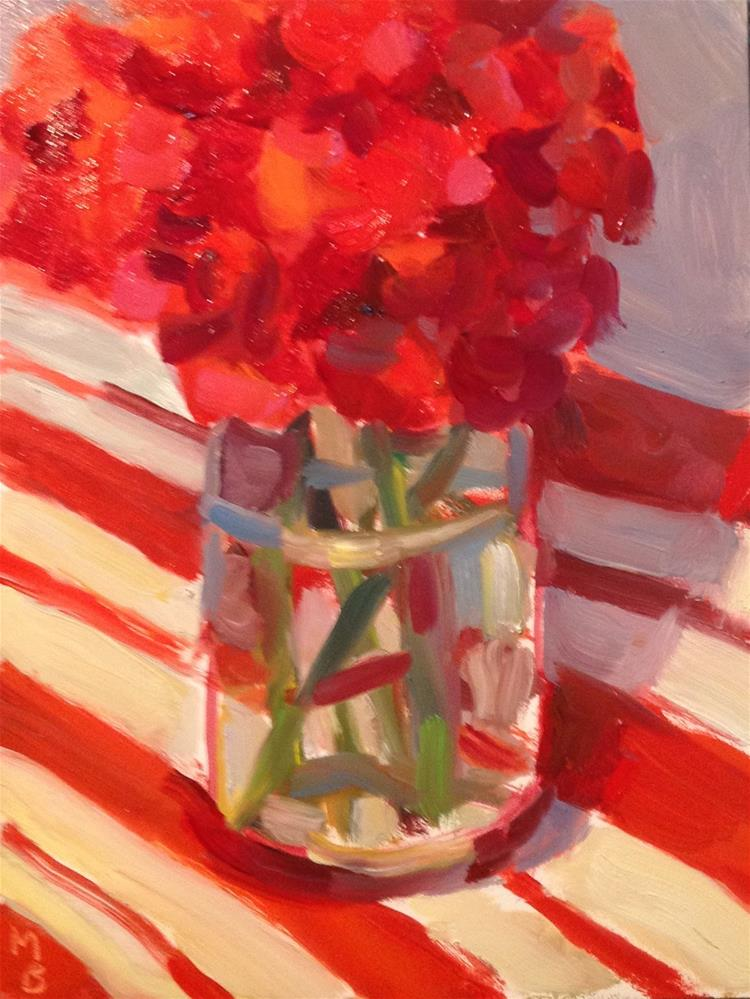 """Birthday Flowers"" original fine art by Marcia Bergtholdt"
