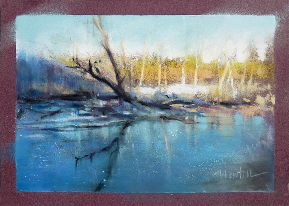 """Rock Creek Winter Series: #2"" original fine art by Barbara Benedetti Newton"