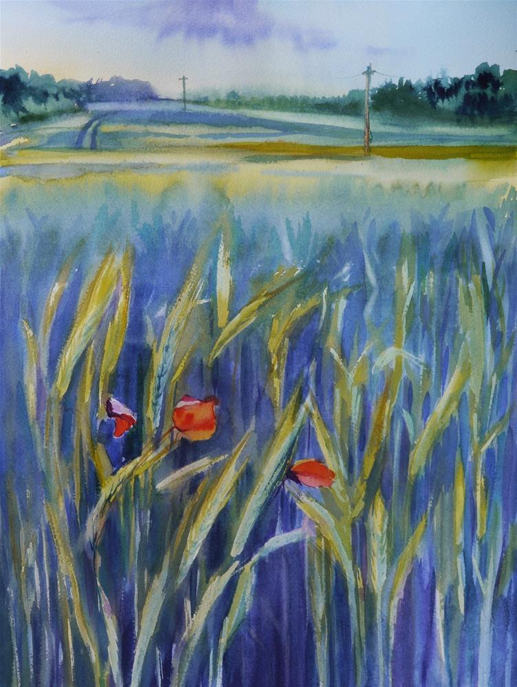 """poppies"" original fine art by Beata Musial-Tomaszewska"