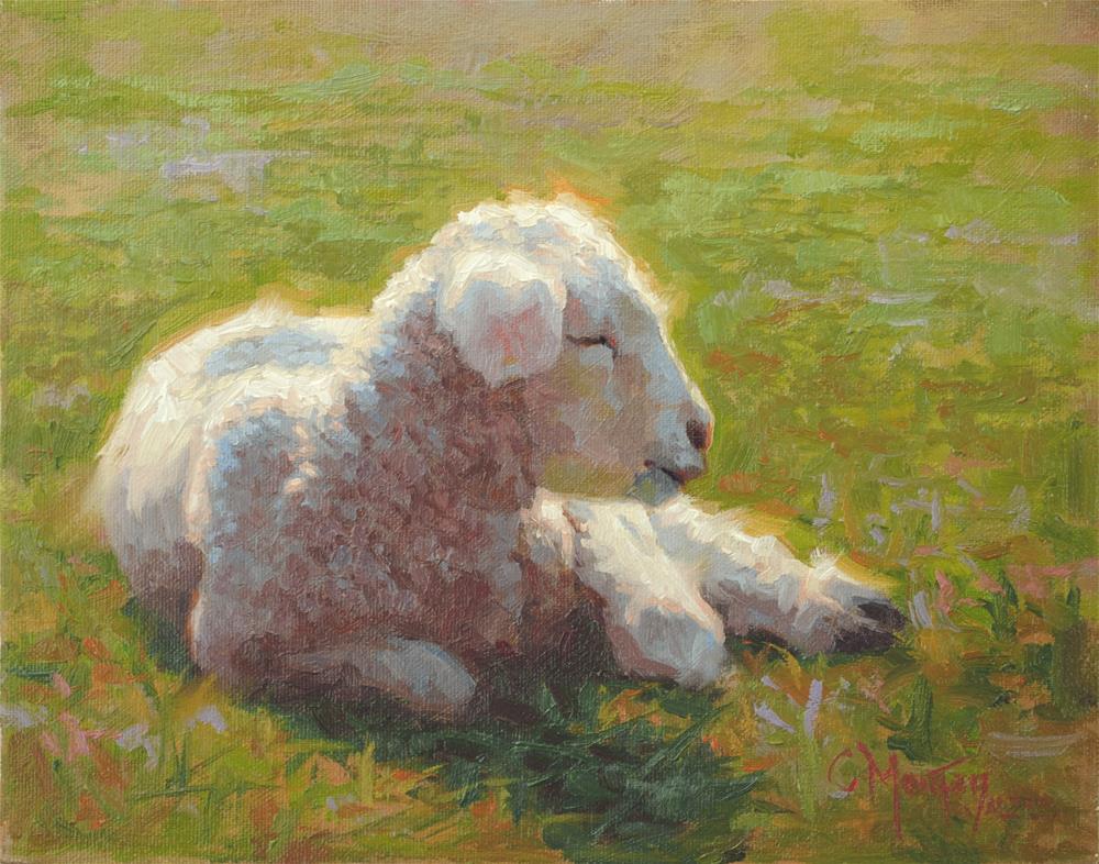 """Green Pastures #2"" original fine art by Cecile W. Morgan"