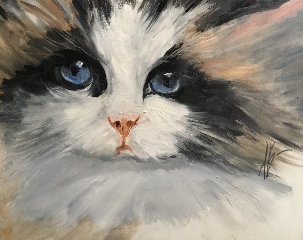 """Pretty blue eyes"" original fine art by Annette Balesteri"
