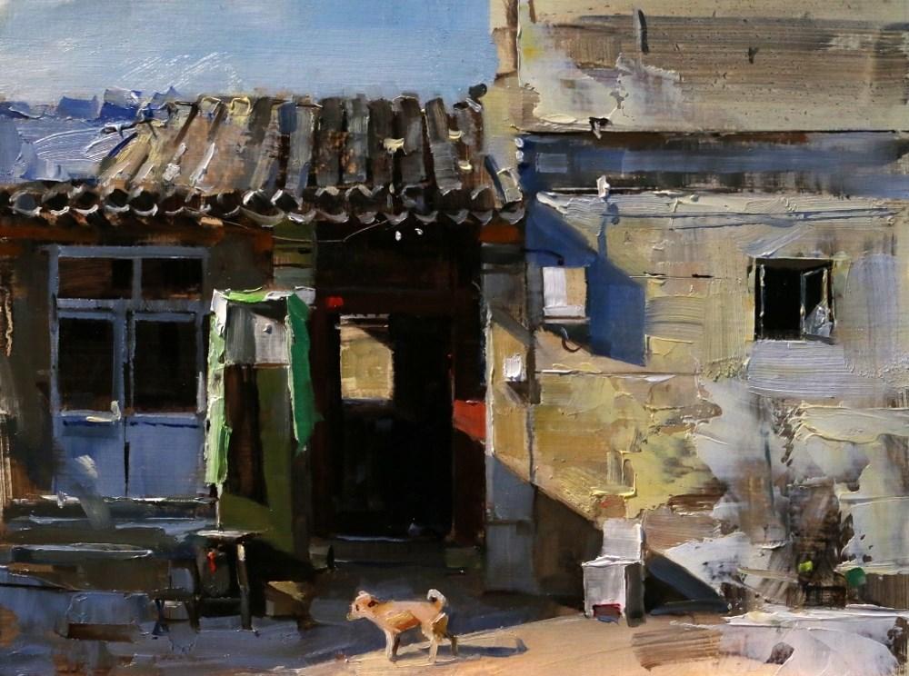 """""""Beijing Hutong 2014 - 6"""" original fine art by Qiang Huang"""