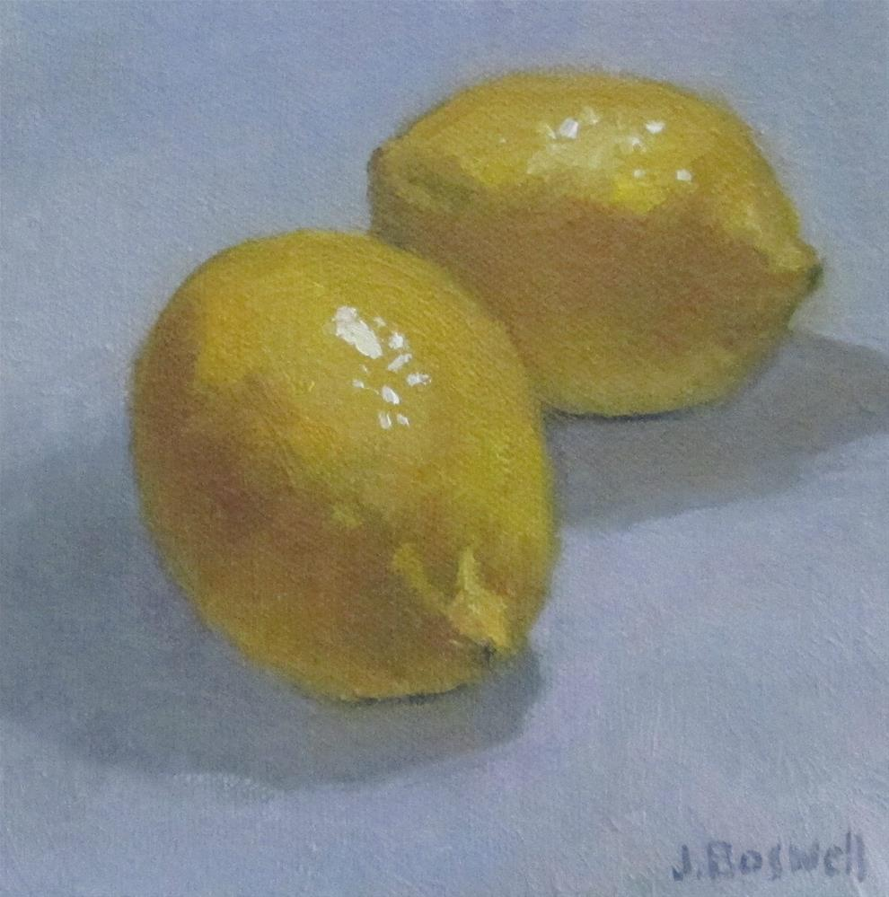 """Lemons"" original fine art by Jennifer Boswell"