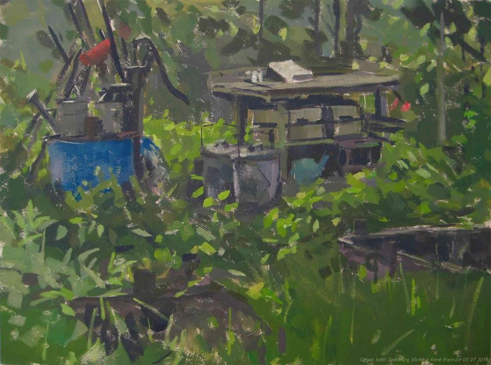 """Potting table Doesburg, The Netherlands. (special thanks for Haidee-Jo)"" original fine art by René PleinAir"