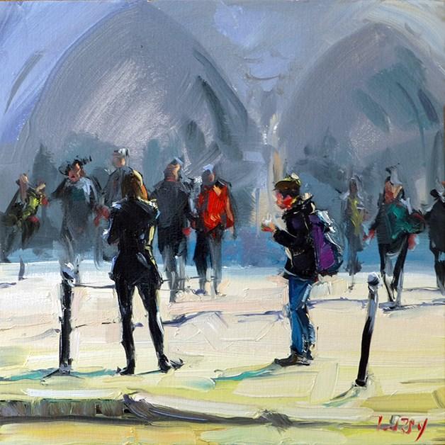 """""""am notre dame de paris"""" original fine art by Jurij Frey"""