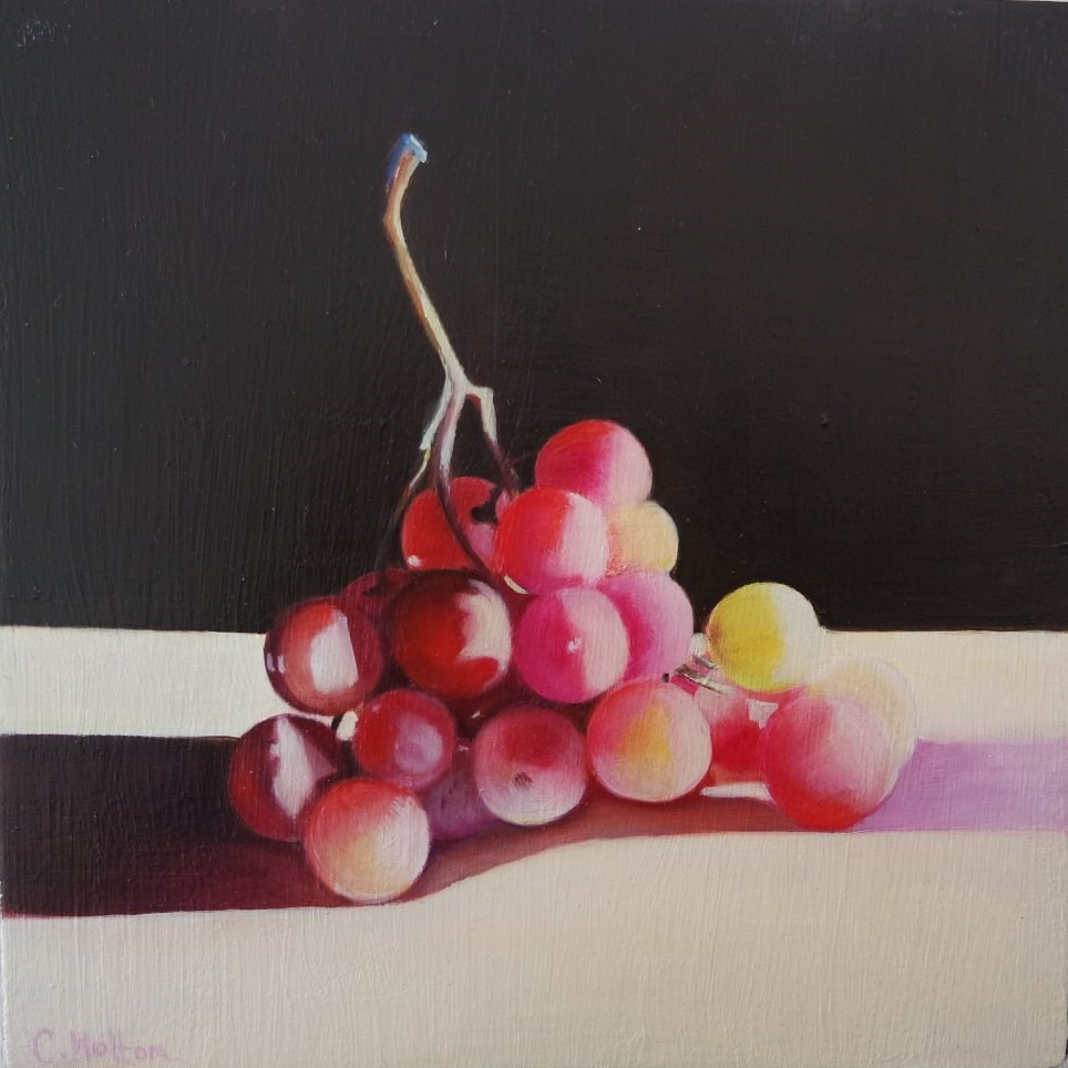 """""""Grapes in the Sunlight"""" original fine art by Cathy Holtom"""