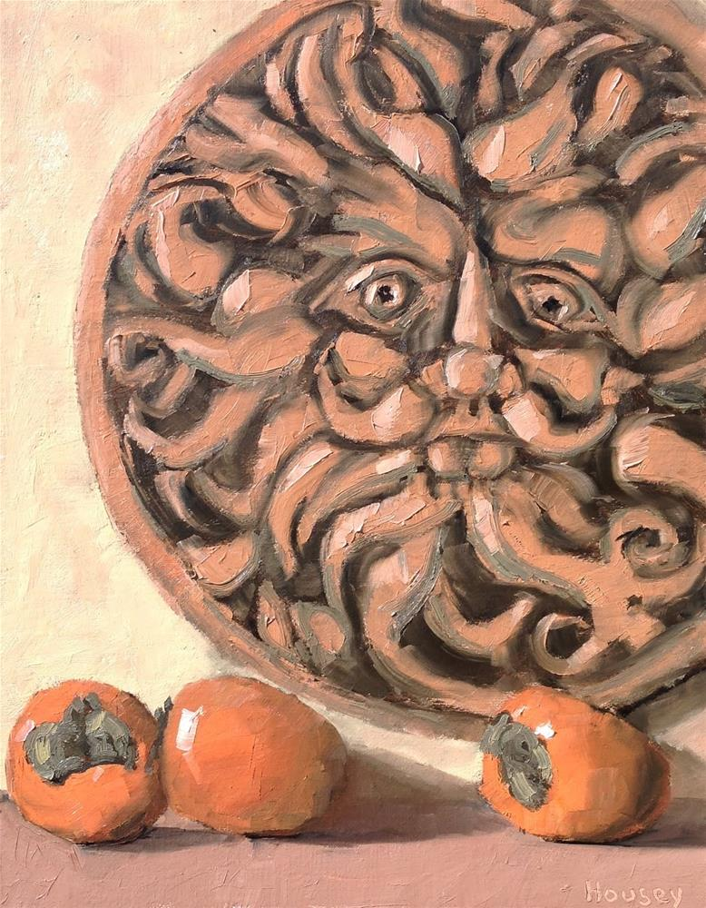 """Sun and persimmons"" original fine art by Bruce Housey"