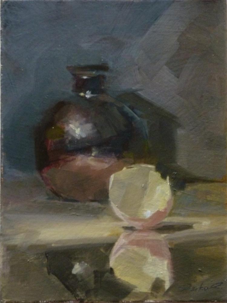 """""""Black Vace & Egg Shell"""" original fine art by Ron Ferkol"""