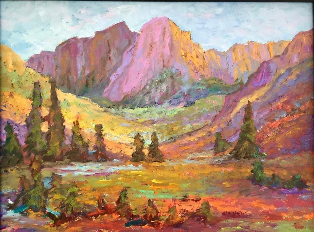 """Mountain Meadows"" original fine art by Liz Zornes"