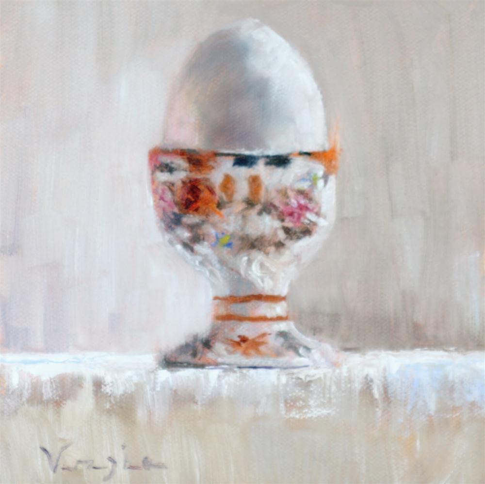 """""""Antique Egg Cup"""" original fine art by Carrie Venezia"""