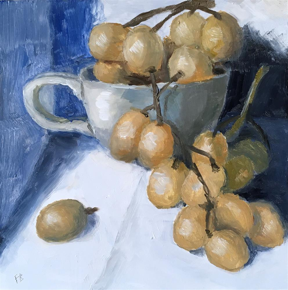"""067 Grapes,"" original fine art by Fred Bell"