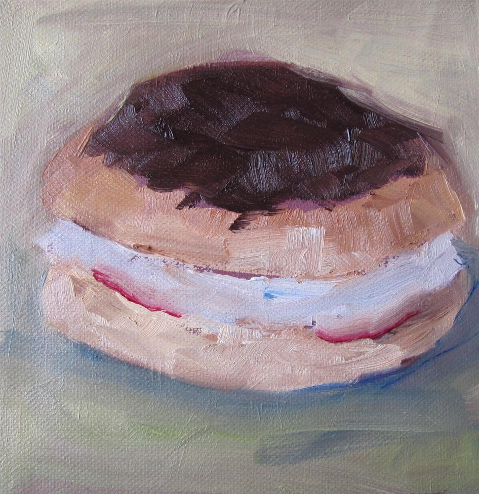 """The Cream Bun"" original fine art by Steinunn Einarsdottir"