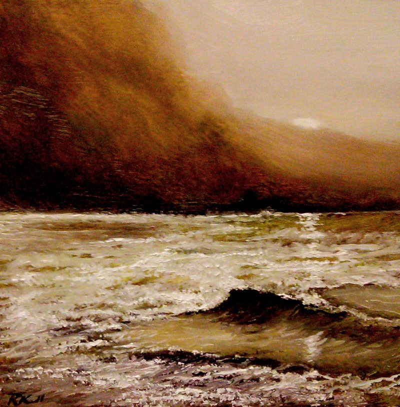 """Secluded Beach"" original fine art by Bob Kimball"