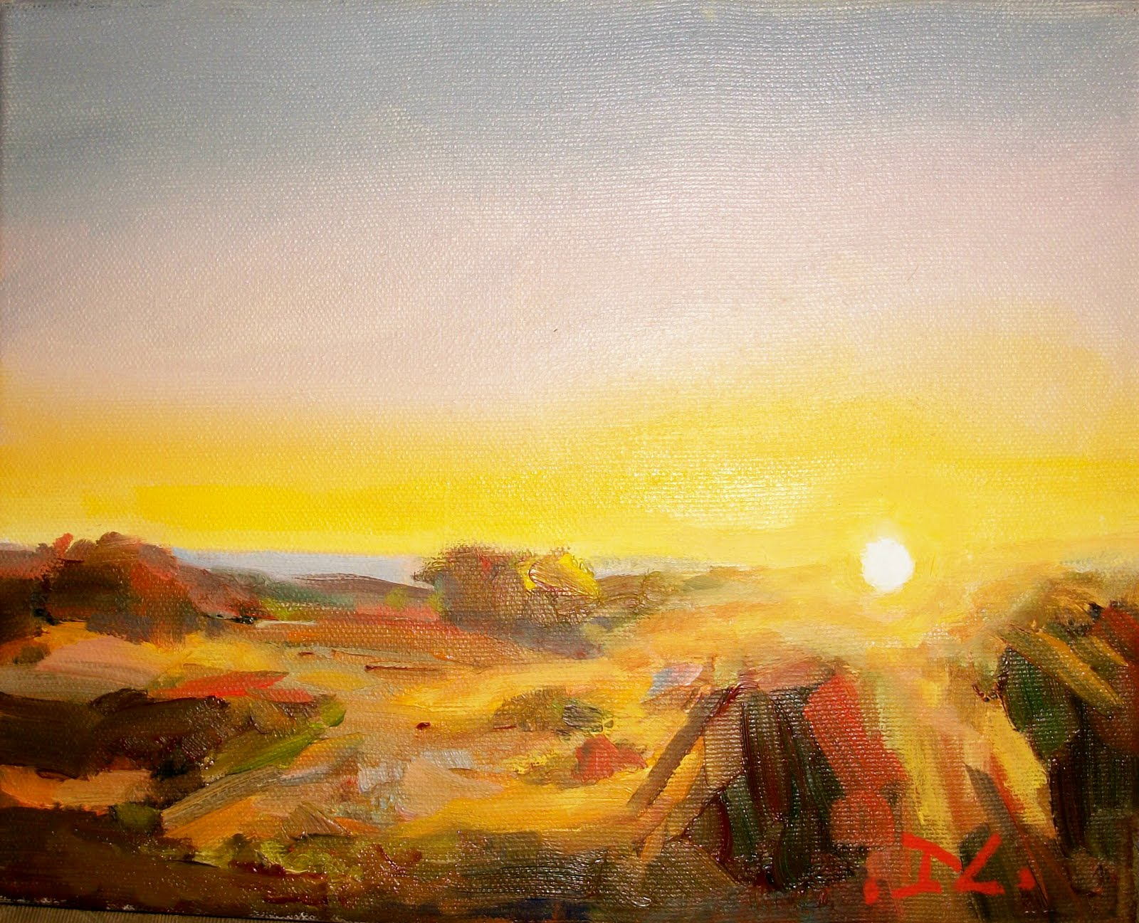 """SUNSET #101"" original fine art by Doug Carter"