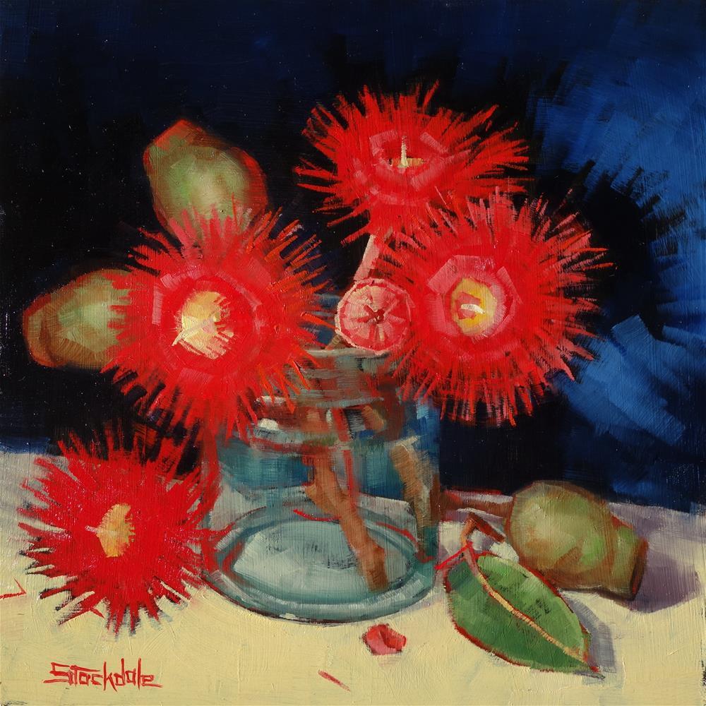 """""""Flowering Gum Still Life"""" original fine art by Margaret Stockdale"""