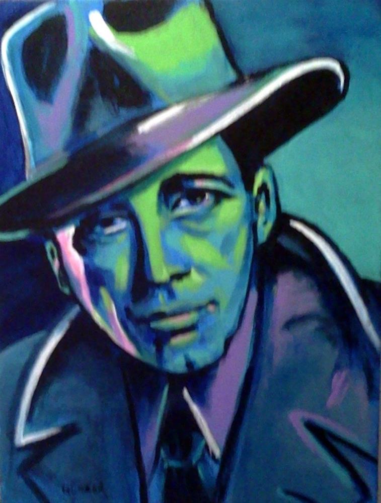 """Humphrey Bogart"" original fine art by Stuart Glazer"
