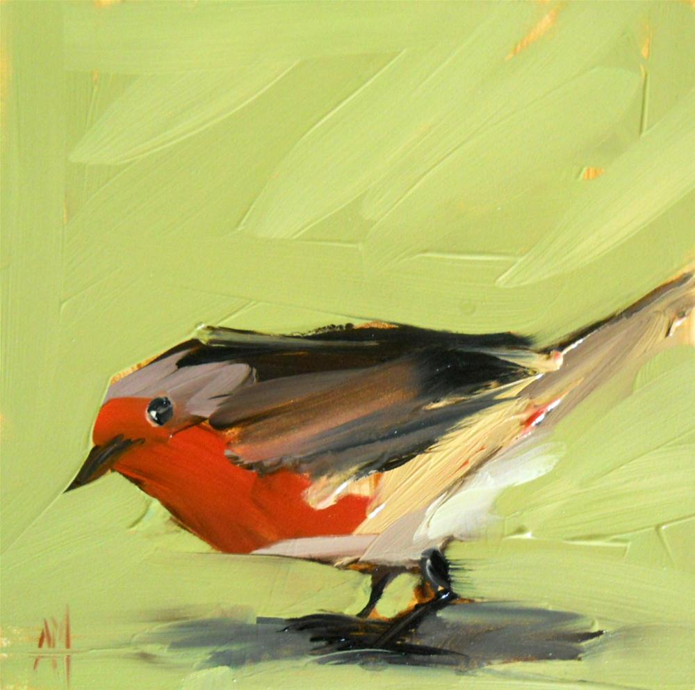 robin original fine art by Angela Moulton