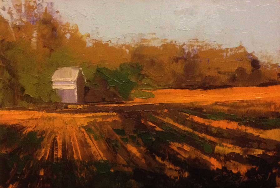 """Fields, Light and Shadows"" original fine art by Mary Gilkerson"