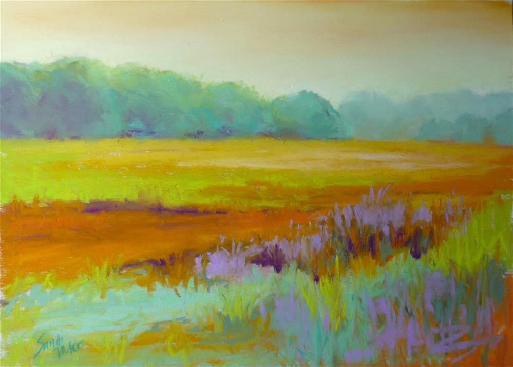 """Spring Does A Dance"" original fine art by Sandi Miller"