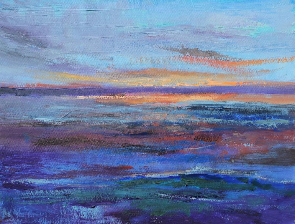 """Somewhere in Oregon, Abstract Seascape Paintings by Amy Whitehouse"" original fine art by Amy Whitehouse"