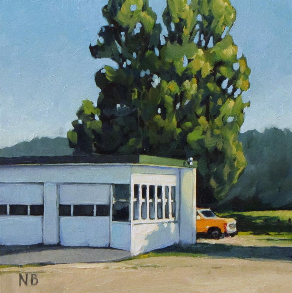 """Under the Cottonwoods"" original fine art by Nora Bergman"