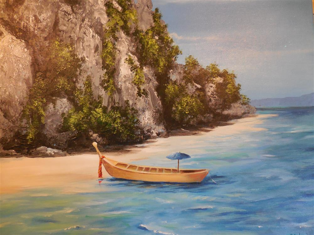 """Tropical Retreat"" original fine art by Terri Nicholson"