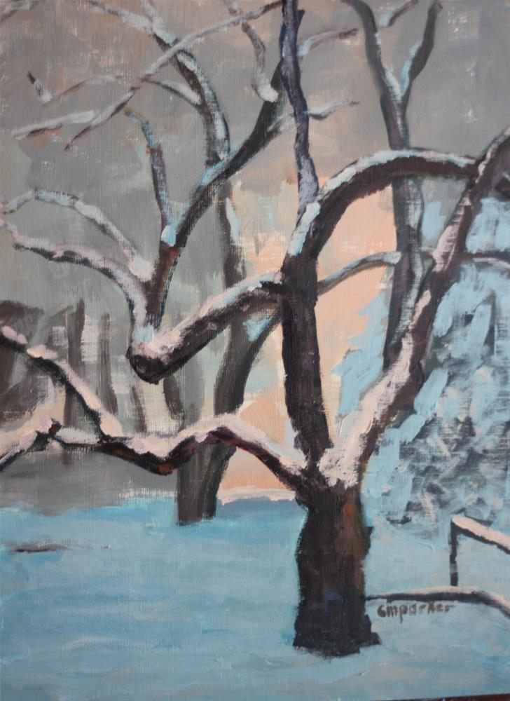 """DPW Tree Challenge"" original fine art by Christine Parker"