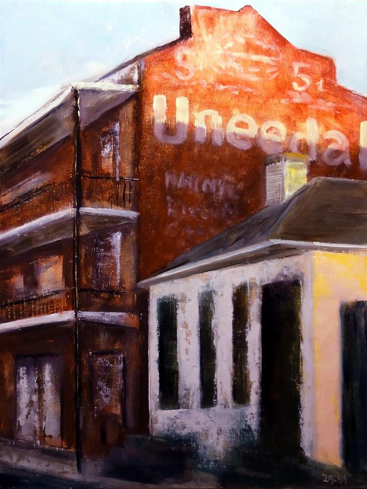 """Uneeda Biscuit French Quarter Historic Mural New Orleans"" original fine art by Dalan Wells"
