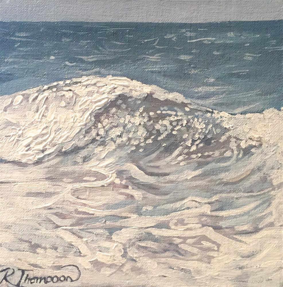 """Waves IV"" original fine art by Rachel Thompson"