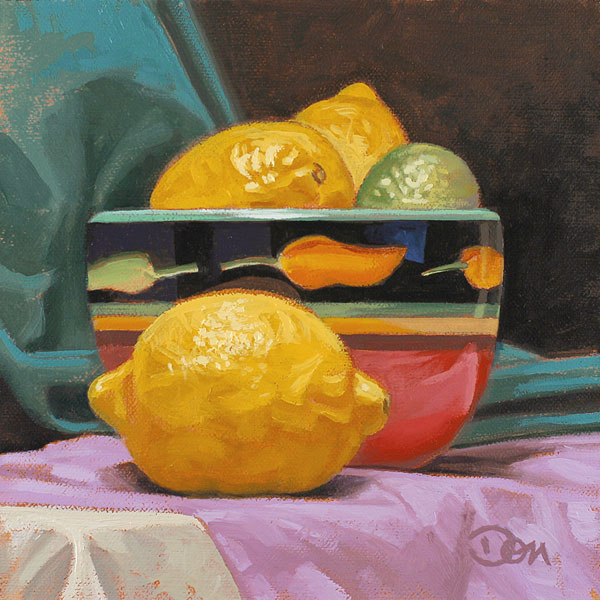 """Limones"" original fine art by Don Stewart"