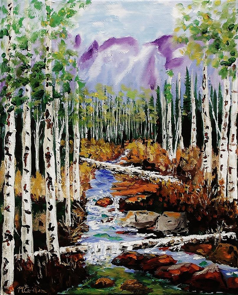 """Mountain Stream"" original fine art by Mike Caitham"
