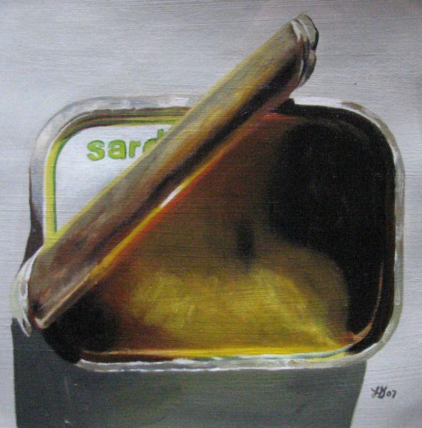 """""""Sardine Tin"""" original fine art by Lauren Pretorius"""