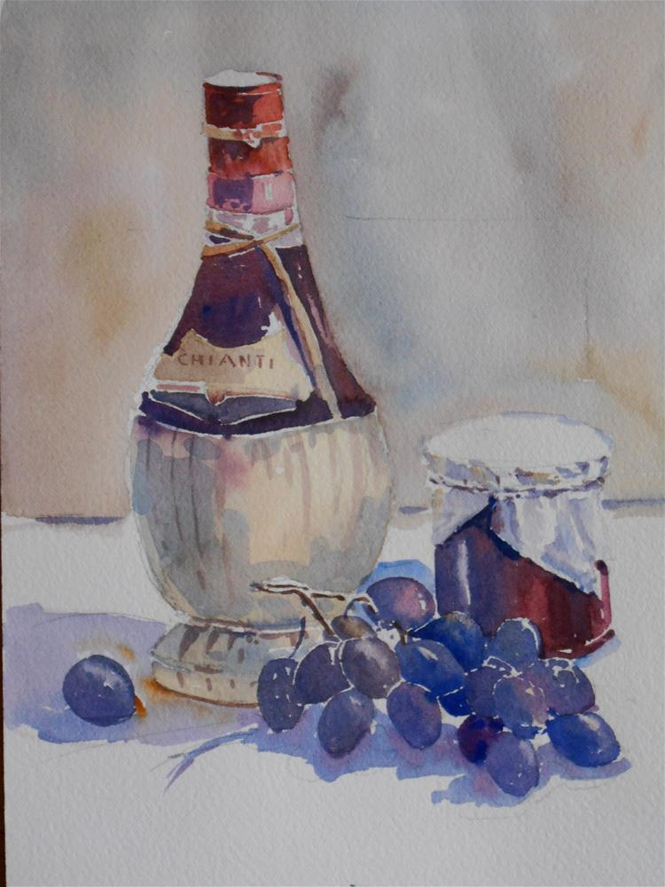 """Dark Grapes"" original fine art by Graham Findlay"