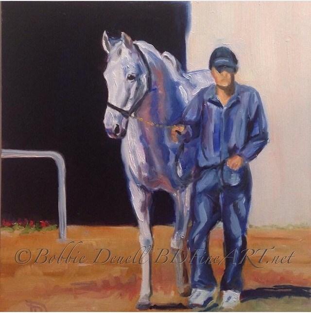 """""""#13 Sales Day"""" original fine art by Bobbie Deuell"""