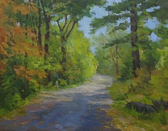"""back country roads"" original fine art by Jim Moyer"