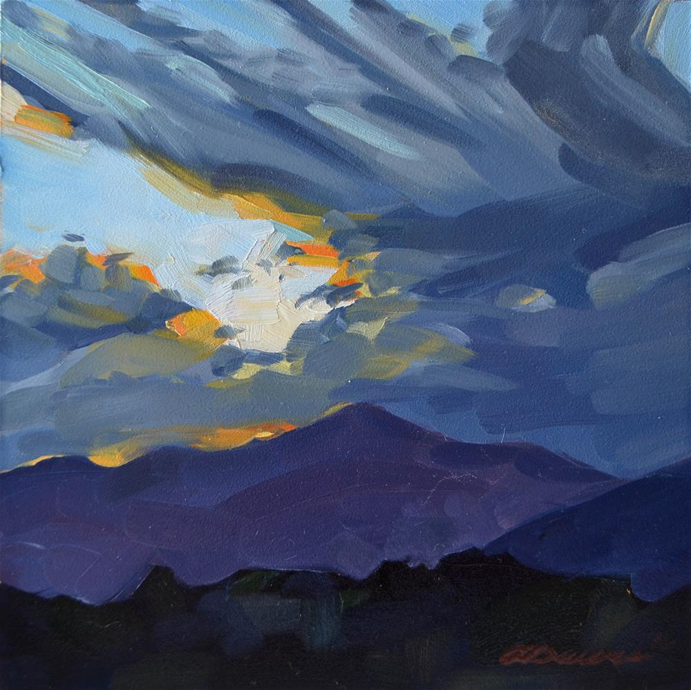 """Terpsichorean Sky"" original fine art by April Dawes"