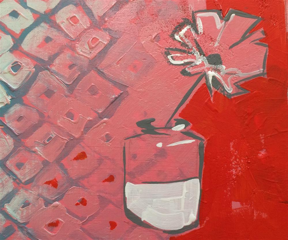 """Flower Sketch No.2"" original fine art by Teddi Parker"