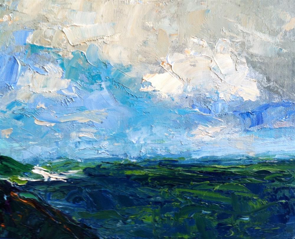 """Seascape"" original fine art by Christine Parker"