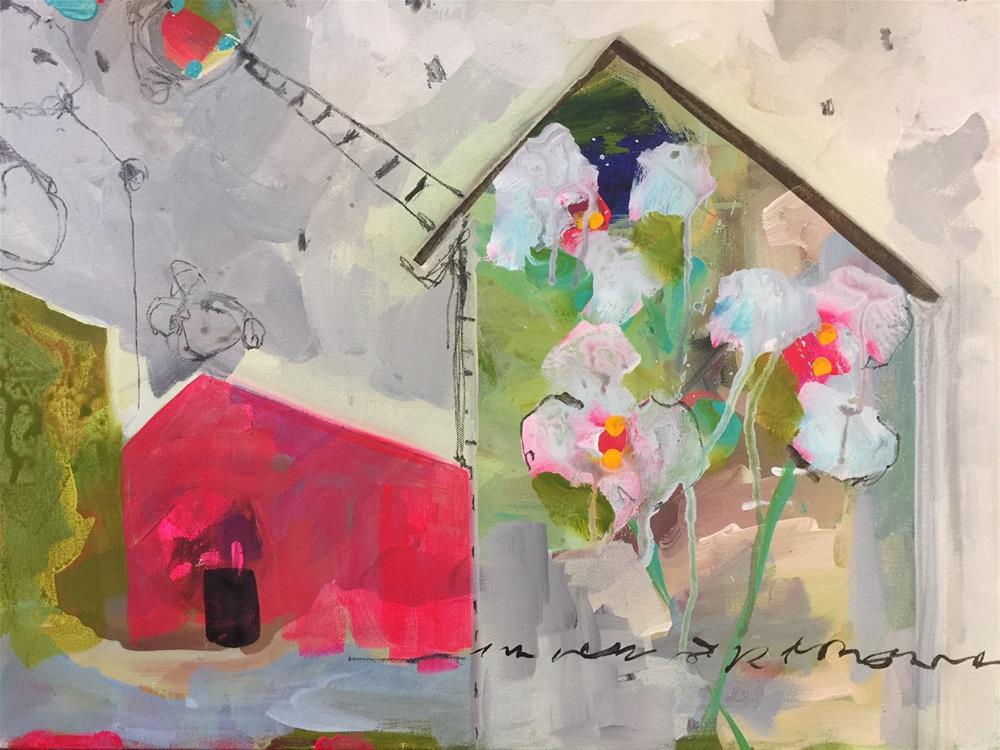 """389 Our House"" original fine art by Jenny Doh"