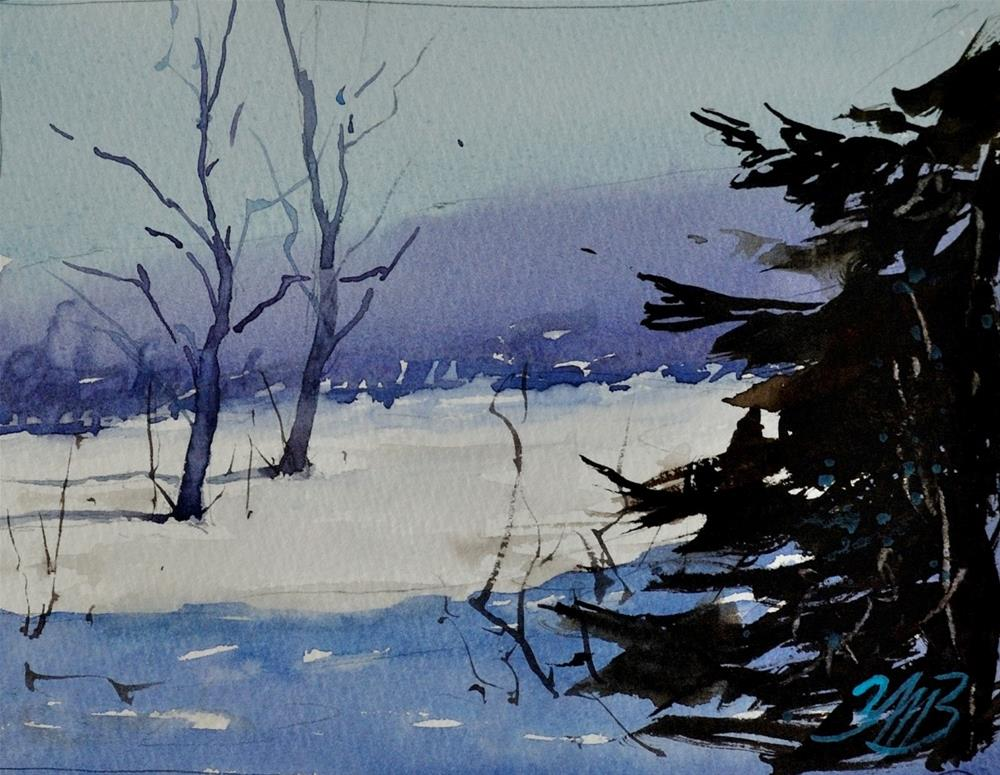 """Winter Shadows"" original fine art by Brienne M Brown"